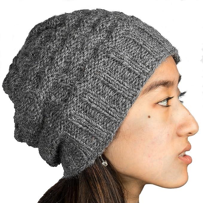 353359d9ca1 Tribe Azure Fair Trade 100% Wool Warm Winter Hat Fleece Lining Women ...