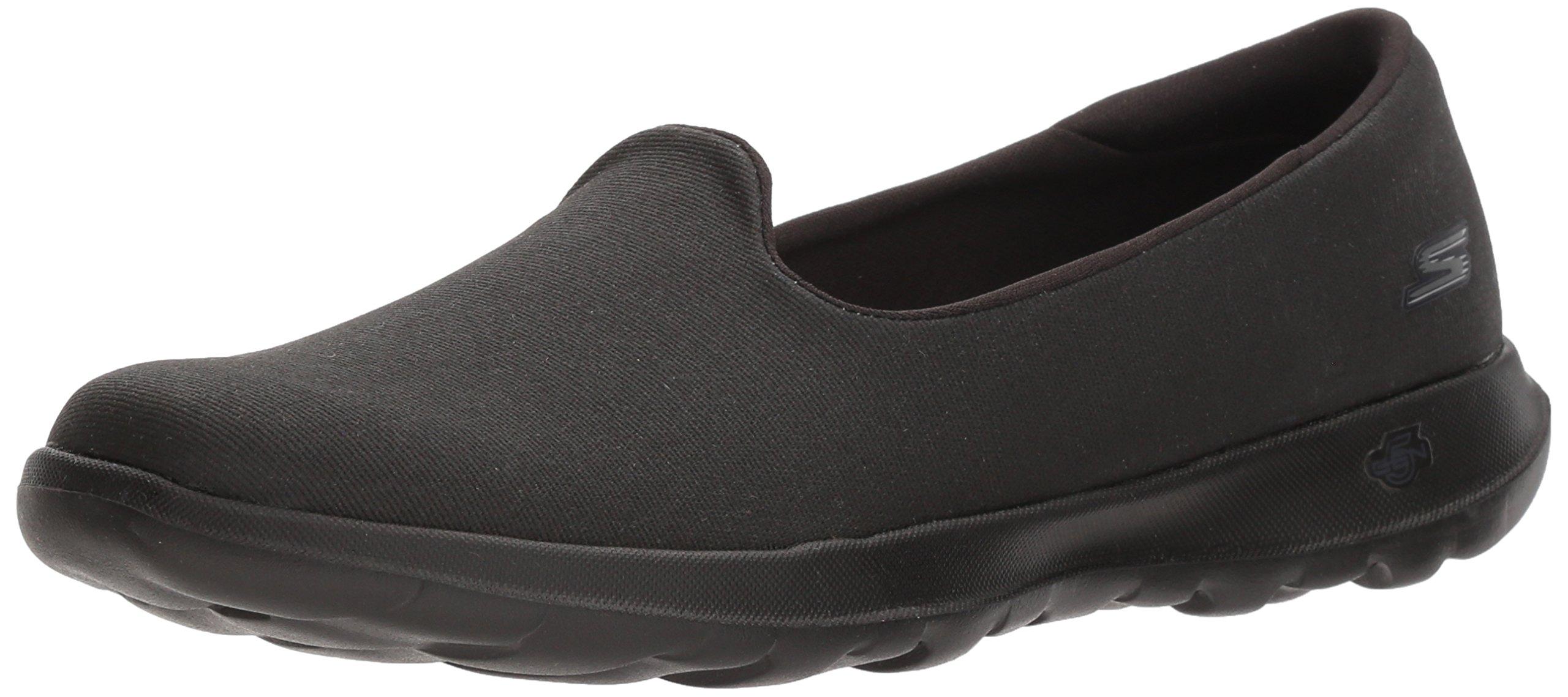 Skechers Performance Women's Go Walk Lite-15411 Loafer Flat,Black,7 M US