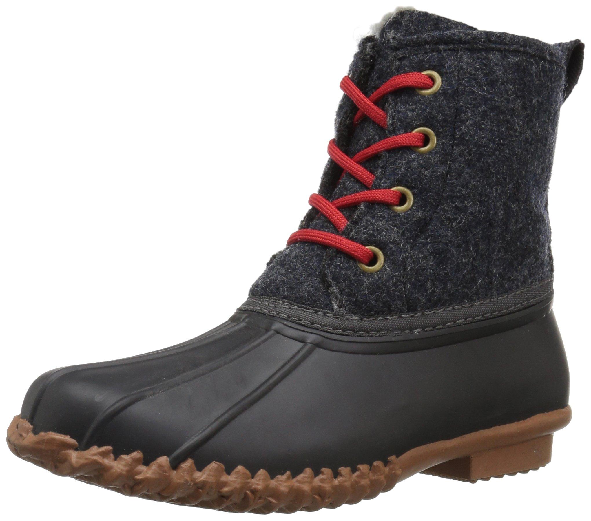 206 Collective Women's Rainier Duck Rain Boot, Black/Gray, 8 B US