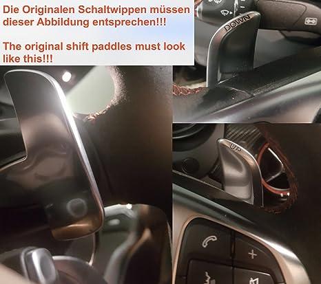 H-Customs DSG Schaltwippen Verl/ängerung Shift Paddle AMG 2014-2020 Eloxiert Schwarz
