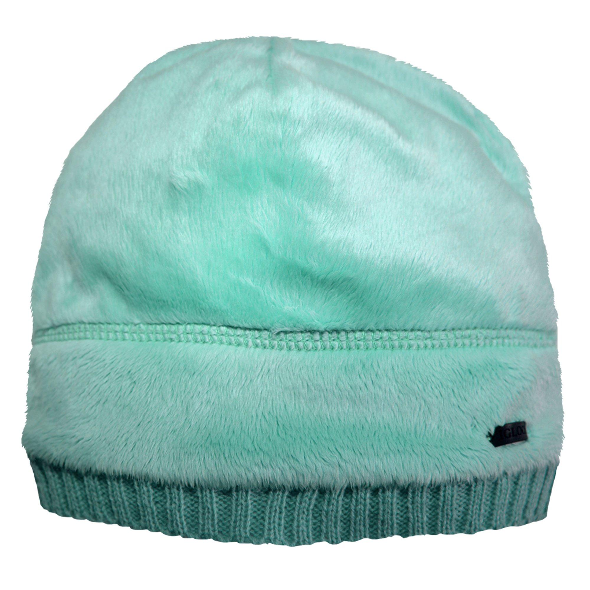 Igloos Girls Butter Pile Fleece Beanie, Aqua Sky, One Size/Size 7-16
