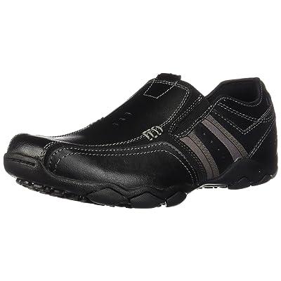 Skechers Men's Classic Fit Diameter-Zinroy, Black Leather, 8.5 D-Medium | Loafers & Slip-Ons
