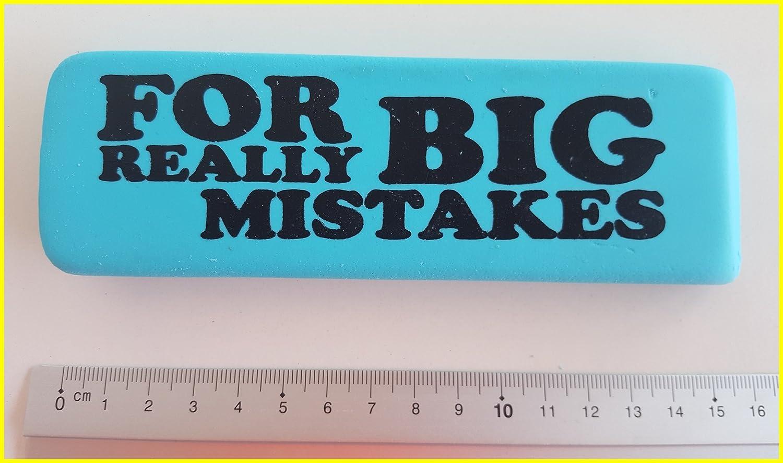 Per errori MOLTO GRANDI - Gomma per cancellare blu gomma XLarge gigante oversize Eraser