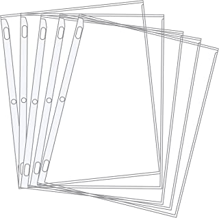 product image for EnvyPak Sheet Protectors - Pastel Color-Coded Edges 8.5 X 11-3 Hole Punched - Pack of 100 (White)
