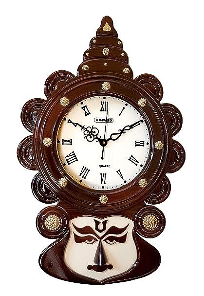 Buy Mdt India Kerala Art Kathakali Face Antique Wall Clock 22 Inch
