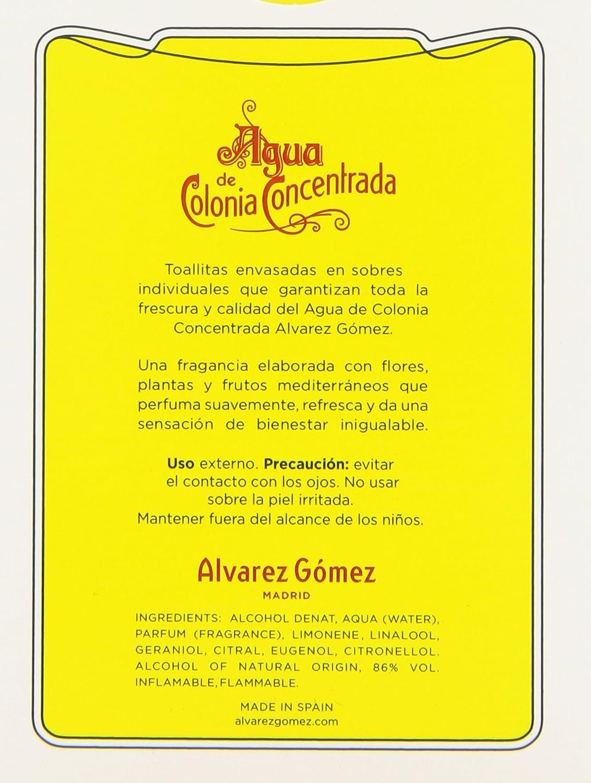 Álvarez Gómez - Toallitas Refrescantes Perfumadas con aroma Colonia Clásica - 10 unidades: Amazon.es: Belleza