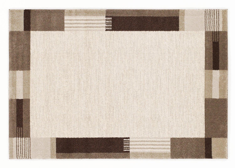 CONTESTO MODERNO moderner Designer Teppich in beige-braun, Größe  200x250 cm