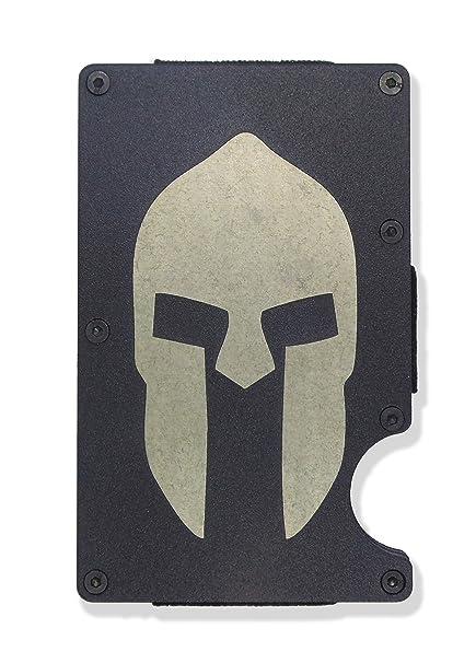 Amazon.com: Casco Spartan grabado de metal RFID bloqueo ...