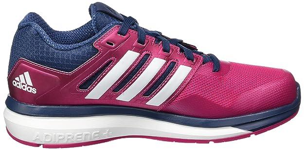 adidas Supernova Glide 8 K, Chaussures de Running Mixte Bébé, Rosa/Weiß/Blau (Eqtros/Ftwbla/Azumin), 35.5 EU