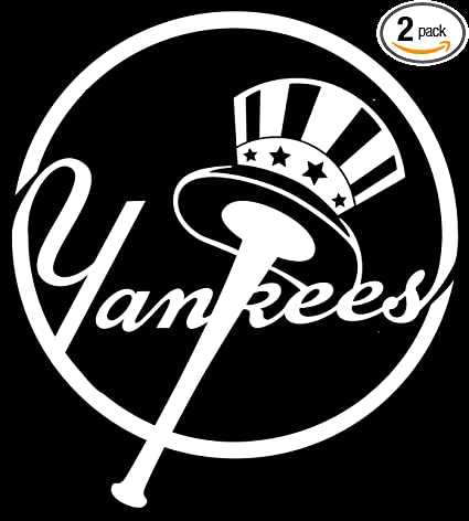 Angdest new york yankees logo logotype white waterproof vinyl decal stickers for laptop phone
