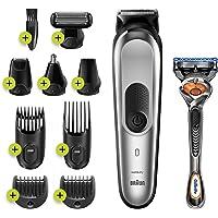 Braun MGK7220 10-in-1 Multigroom Voor Mannen, Bodygroomer En Haartrimmer, Zilvergrijs