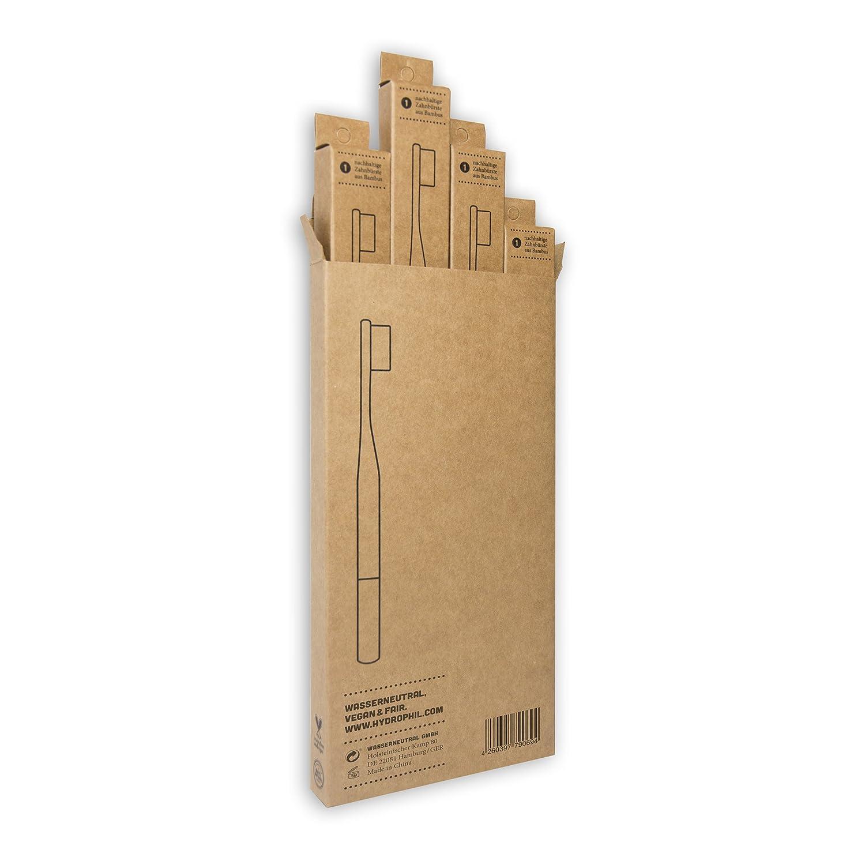 Hydrophil Nachhaltige Zahnburste Aus Bambus Rot 4er Pack Mittelweich