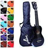 Best Black Soprano Ukulele with Bag, Great Fun for Adult Beginners and Children LOVE Ukuleles (the #1 Music Instrument) with FREE eBook and 'String Stretching' Guide to Get You Enjoying the Uke FAST!