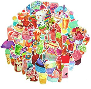 Linzze Stickers 70-Pcs Pack Waterproof Vinyl Bumper Decals Perfect for Laptop Car Skateboard Water Bottle Travel Case Guitar Luggage Motorbikes (Ice Cream)