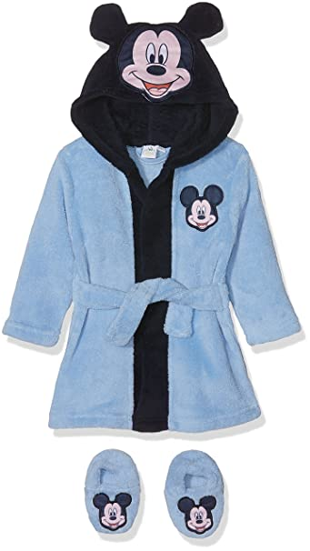 Disney Mickey Mouse Head, Bata para Bebés, Azul (Blue 14-4121TC), 12 Meses: Amazon.es: Ropa y accesorios