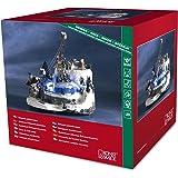 Konstsmide 3456-000 - Decorazione natalizia animata a LED, soggetto:seggiovia, con luci colorate, trasformatore interno da 12 V, cavo nero