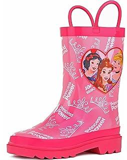 9c877fe7d9d Amazon.com | Disney Frozen Girls Anna and Elsa Pink Rain Boots ...