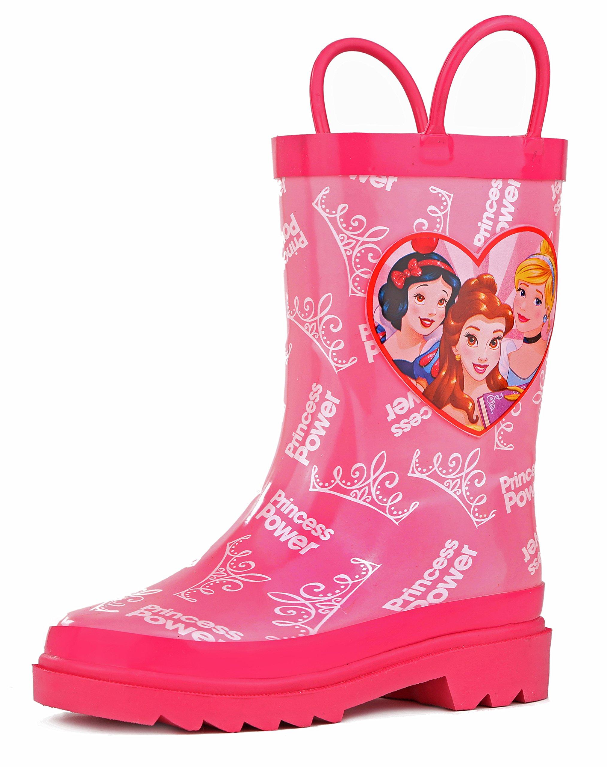 Disney Princess Girl's Pink Rain Boots - Size 8 Toddler