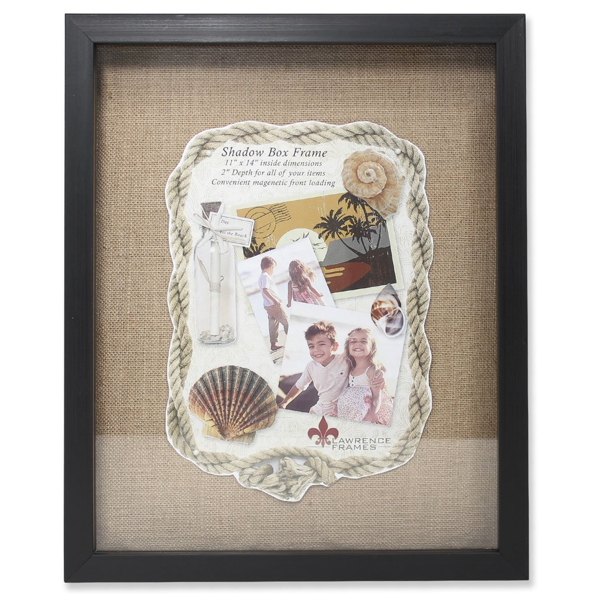 Amazon.com - Lawrence Frames Front Hinged Shadow Box Frame with ...