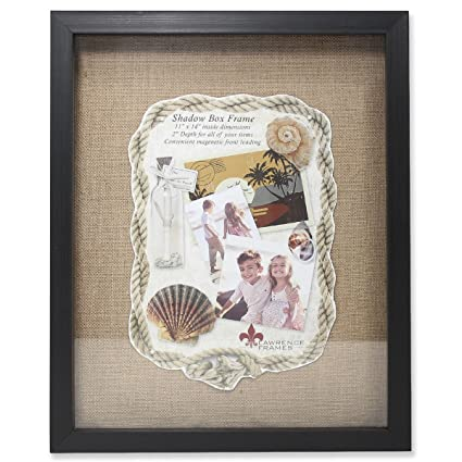 Amazoncom Lawrence Frames Front Hinged Shadow Box Frame With