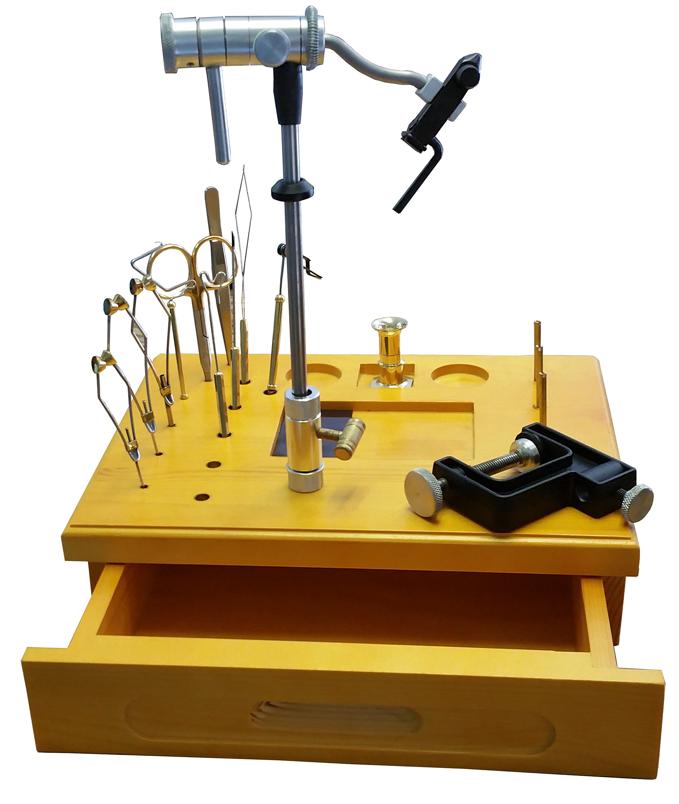 Wooden Fly Tying Kit Ez Vise by Colorado Angler Supply