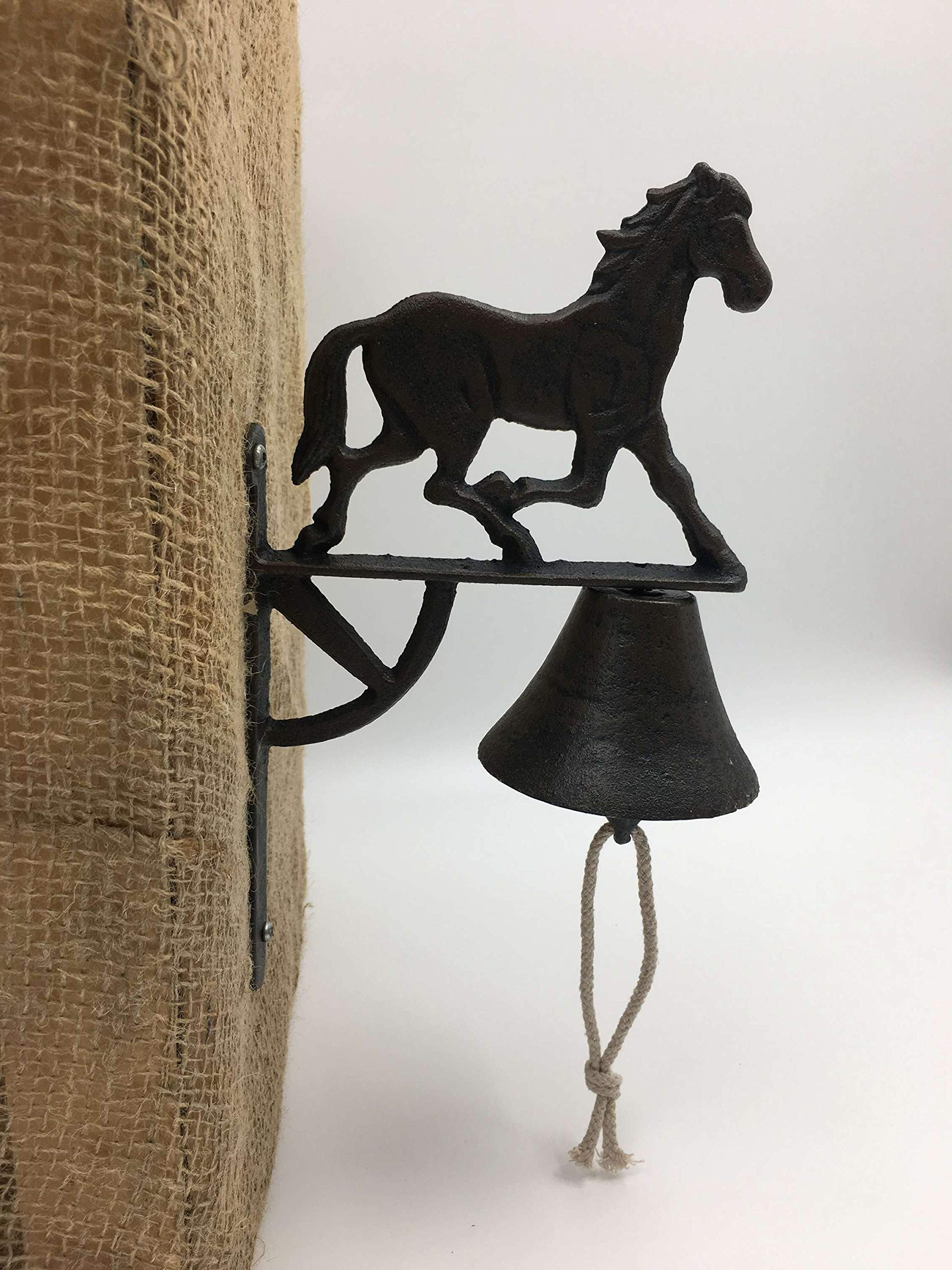 Jcook Home Decor Running Horse Cast Iron Bell