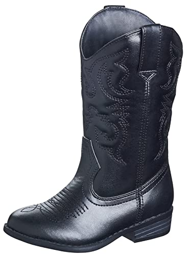 Amazon.com: Black Cowboy Boots Cowgirl Western Rodeo Riding Shoes ...