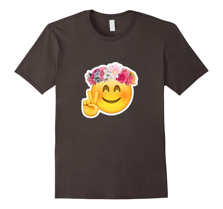 Hippie Face Emoji T-Shirt-CD