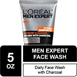 Mens Face Wash, Beard and Skincare for Men, L'Oreal Paris Skincare Men Expert Hydra Energetic Facial Cleanser with…