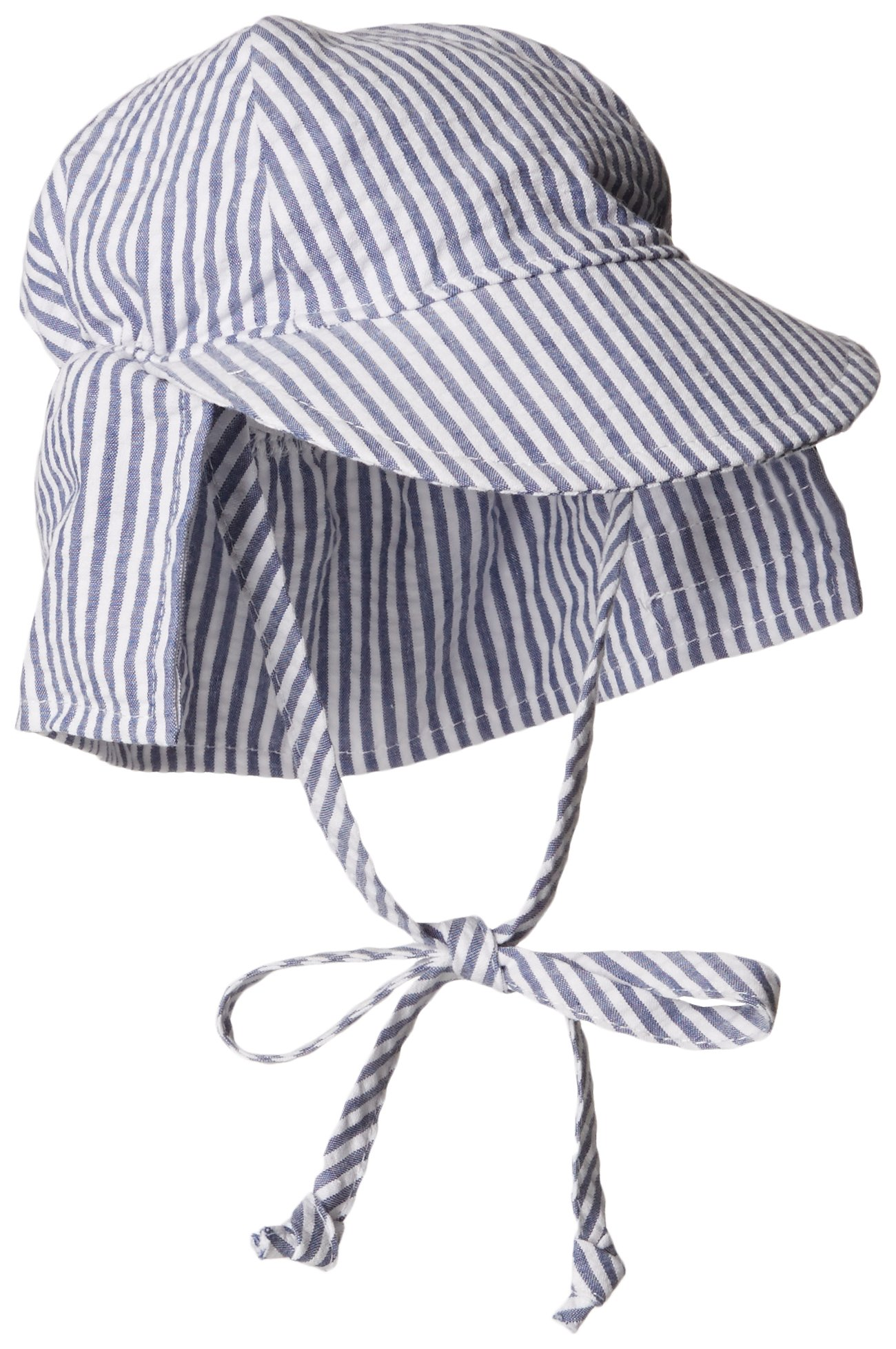 Flap Happy Baby Girls' UPF 50+ Original Light Weight Flap Hat with Ties
