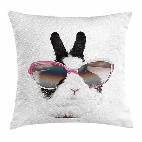 juchenjixie - Funda de cojín divertida, diseño de conejo en ...