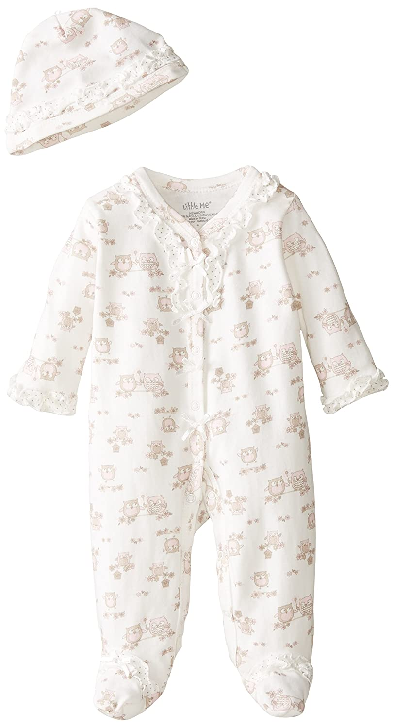 世界的に有名な Little Me SLEEPWEAR ベビーガールズ Owl-white 6 SLEEPWEAR Months Sweet Little Owl-white Print B00GCIM7FA, フロームラボショップ:e8cc537a --- a0267596.xsph.ru