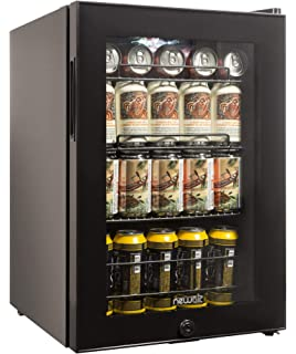 NewAir AB 850B Beverage Cooler And Refrigerator, Small Mini Fridge With Glass  Door,