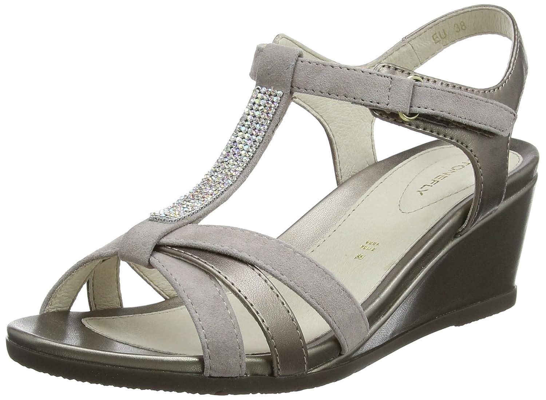 Stonefly Sweet III 9 Goat S, Zapatos con Tacon y Correa de Tobillo para Mujer