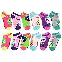 Girls Hatchimals 6 Pack Low Cut Socks Size 9-3