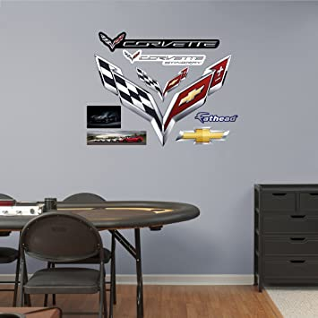 Fathead Wall Decal, Real Big, GM Corvette Flags ...