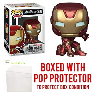 Iron Man #626 Pop Games: Avengers Gamerverse Vinyl Figure (Bundled with EcoTEK Plastic Protector to Protect Display Box): Toys & Games