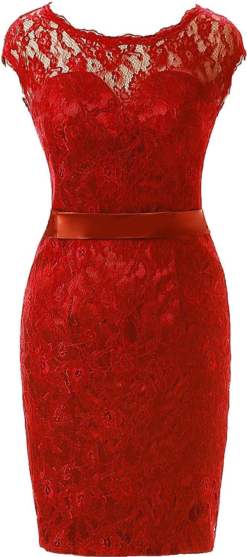 Amazon.com: OkayBridal Womens Lace Homecoming Dress Cap Sleeve Open Back Short Bridesmaid Dress: Clothing