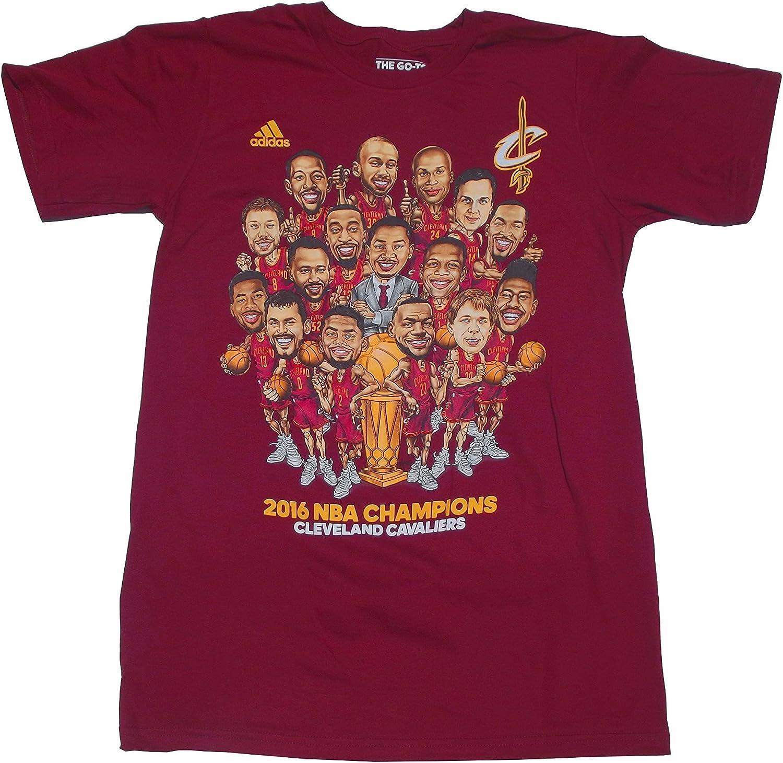 adidas NBA Cleveland Cavaliers Hombre 2016 Caricatura Parade tee: Amazon.es: Deportes y aire libre
