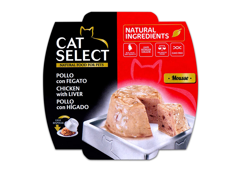 Cat Select Mousse de Pollo con Hígado - 12 Tarrinas: Amazon.es ...