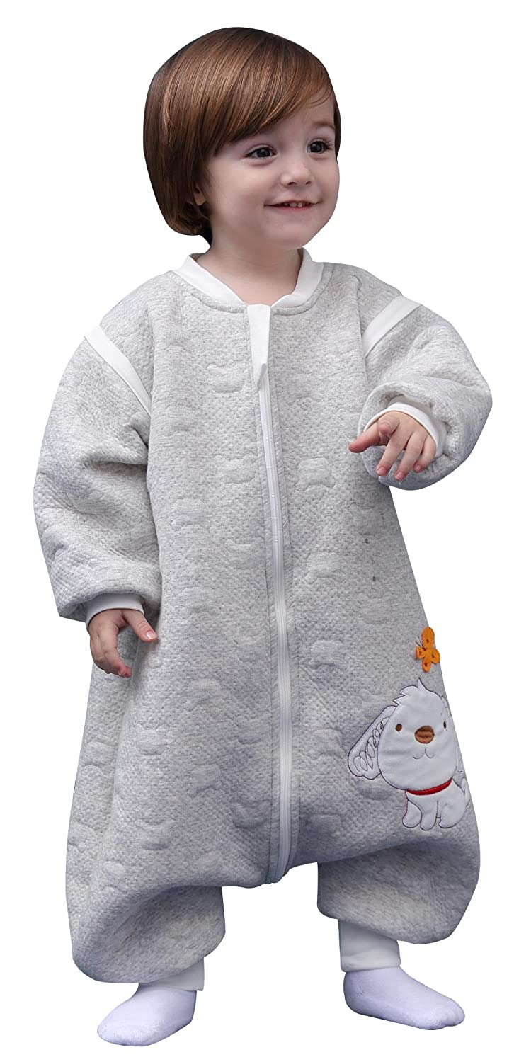 Toddlers Sleep Rompers Baby Cotton Sleeppsack Footie Winter Spring Fall Sleepwear Gray XL 2t-3t Happy Cherry