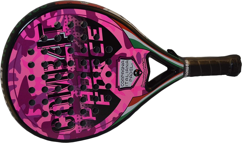 Pala Pádel de Carbono Combat 4 Rosa Brillo: Amazon.es: Deportes y ...