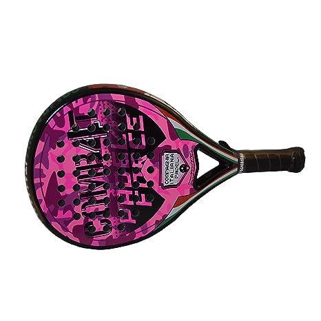 Pala Pádel de Carbono Combat 4 Rosa Brillo