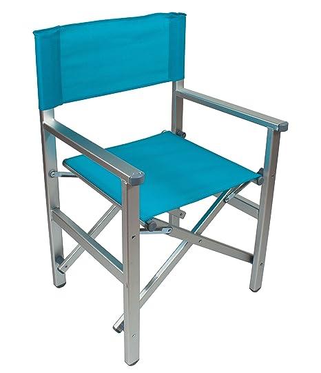 Sedia Da Regista Alluminio Robuste.Sedia Regista Top Alluminio Mare Campeggio Richiudibile