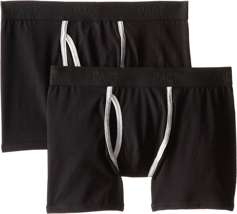 Pact Men's 2-Pack Organic Cotton Stretch Boxer Brief Underwear