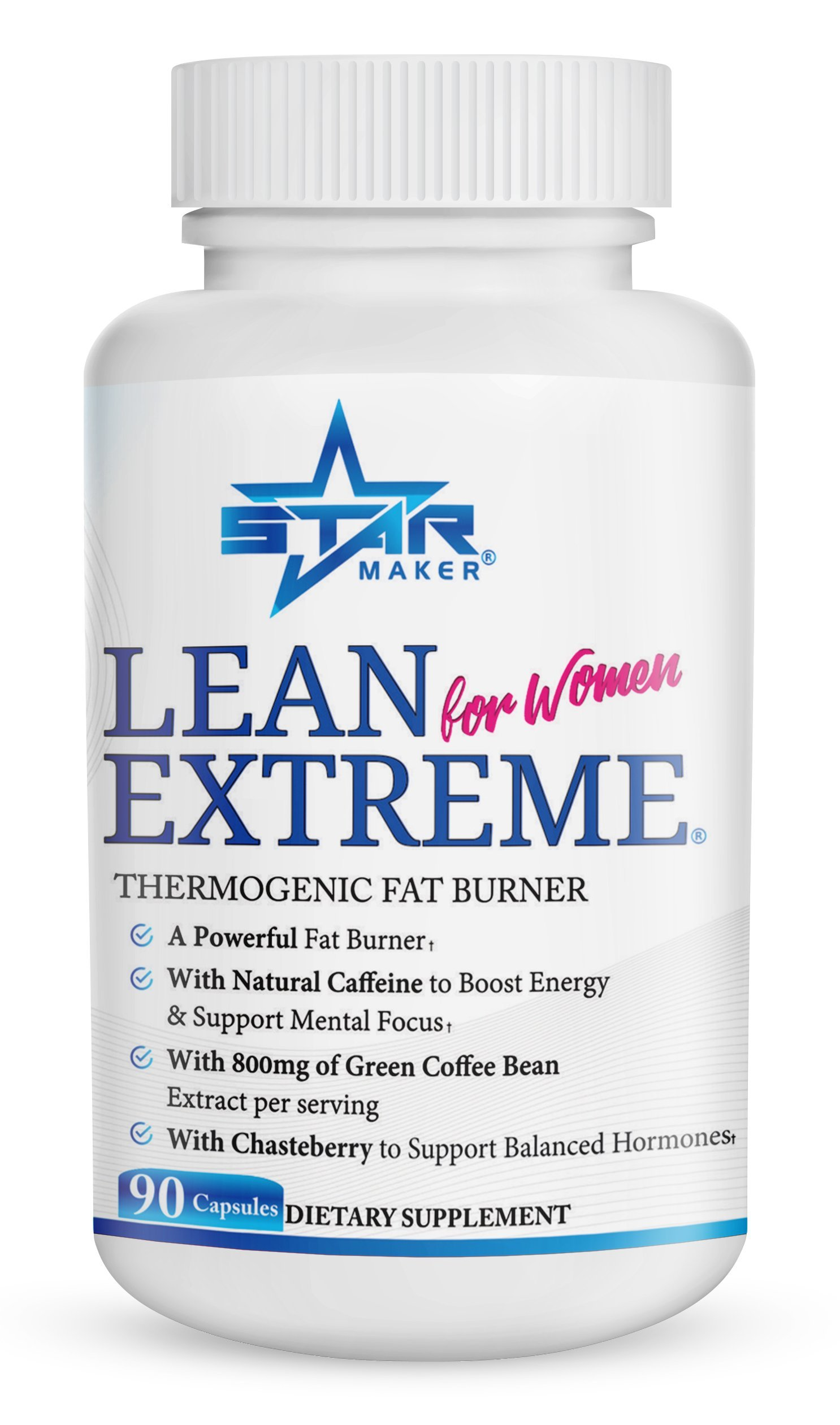 Lean Extreme Keto Weight Loss Diet Pills and Thermogenic Fat Burner for Women - 4X More Green Coffee Bean, Appetite Suppressant & Energy Booster, Supports Balanced Hormones, 90-Count by STARMAKER