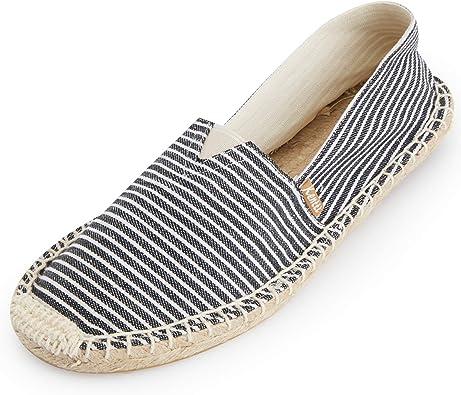 Stripe Slip on Flat Espadrilles
