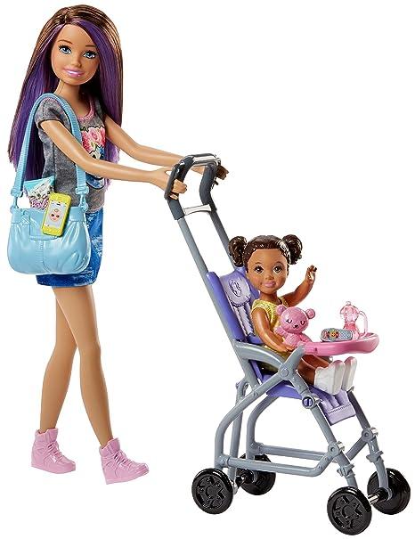 Barbie Babysitters Bebè e Passeggino Playset con Bambola Skipper ... 21d217e2a0348