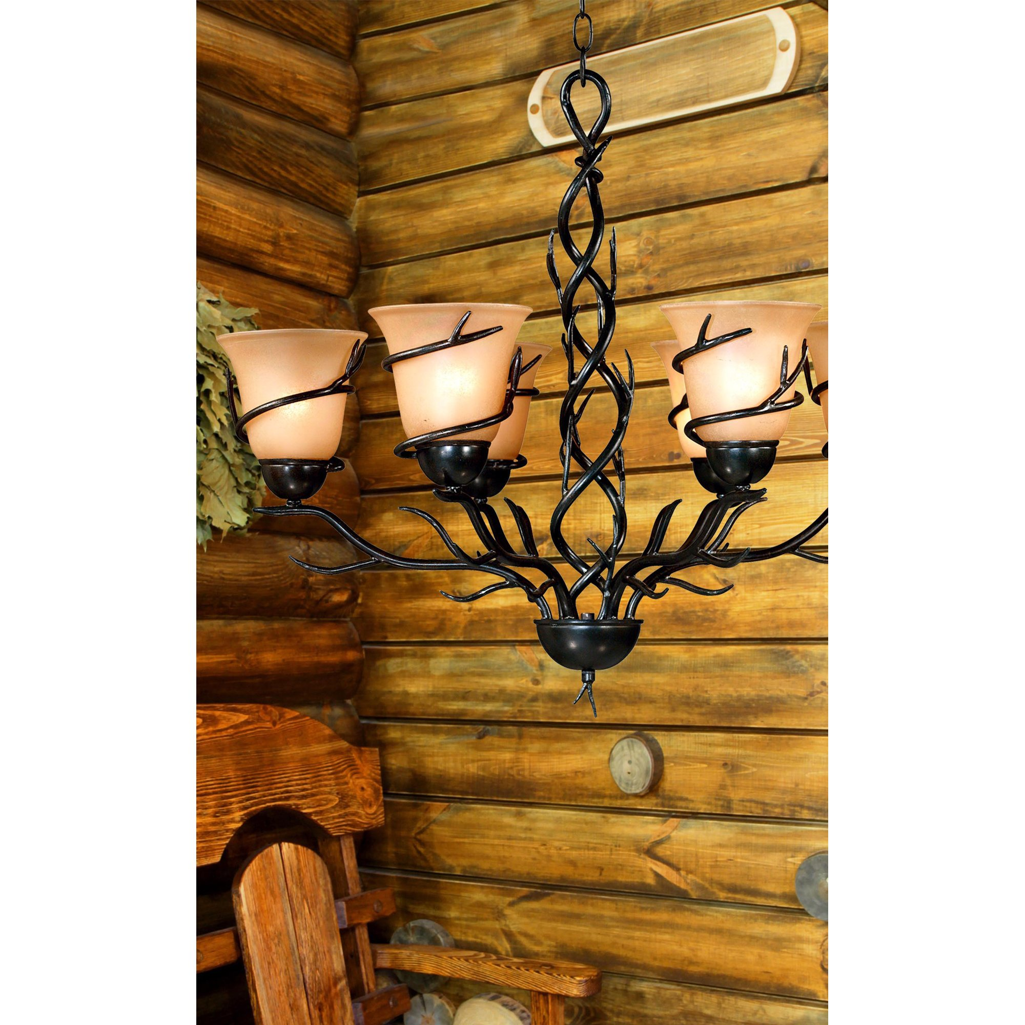 Kenroy Home 90900BRZ  Twigs 6-Light Chandelier, Blackened Bronze Finish by Kenroy Home