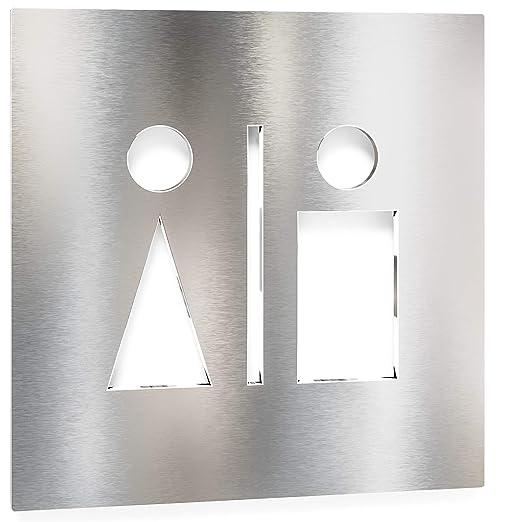 Letrero para WC minusválidos - señalización autoadhesiva de ...